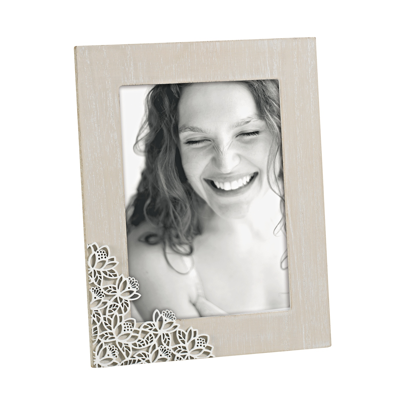 A770  FRAME NATUR WOODEN LACE 13x18