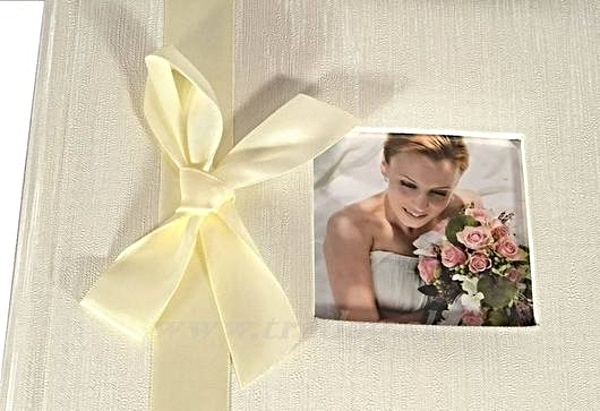 W WEDDING RIBBON FOTOALBUM  SS 40str.25,8X28 BOX