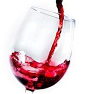 CANVAS GLASS RED WINE 50x50